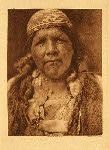 portfolio 13 plate no. 467 Principal female shaman of the Hupa - photogravure plate