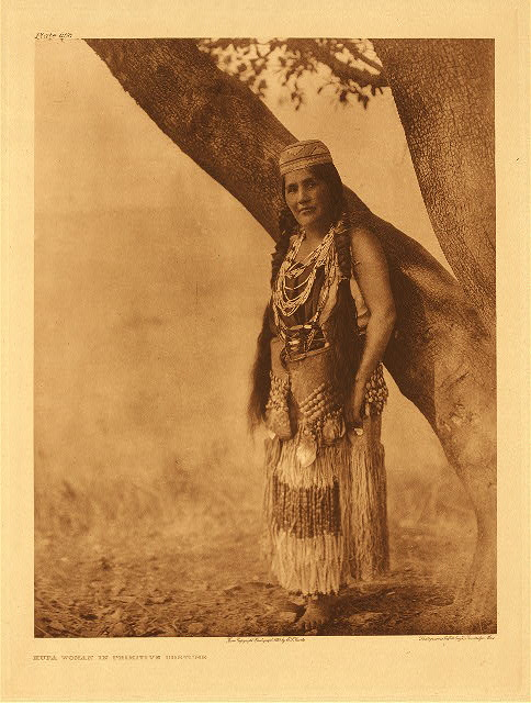portfolio 13 plate no. 468 Hupa woman in primitive costume