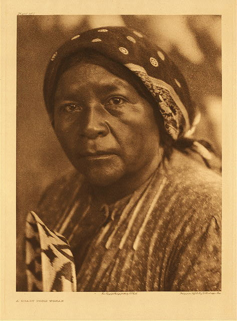 portfolio 14 plate no. 483 Coast Pomo woman