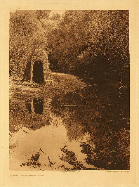 portfolio 14 plate no. 487 Fishing camp - Lake Pomo