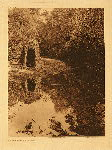 portfolio 14 plate no. 487 Fishing camp - Lake Pomo - photogravure plate