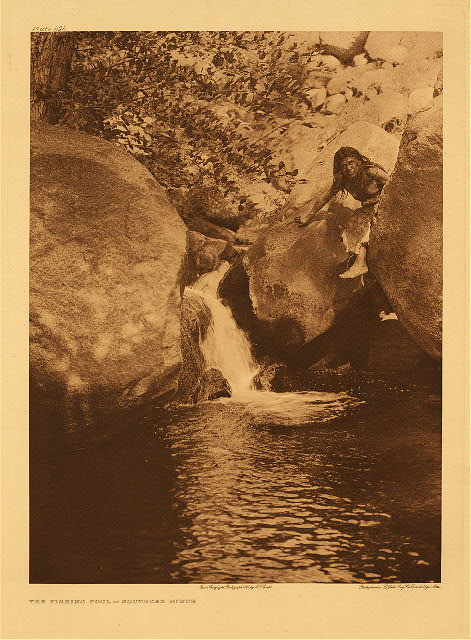 portfolio 14 plate no. 494 Fishing-pool - Southern Miwok