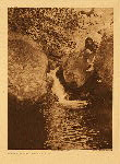 portfolio 14 plate no. 494 Fishing-pool - Southern Miwok - photogravure plate