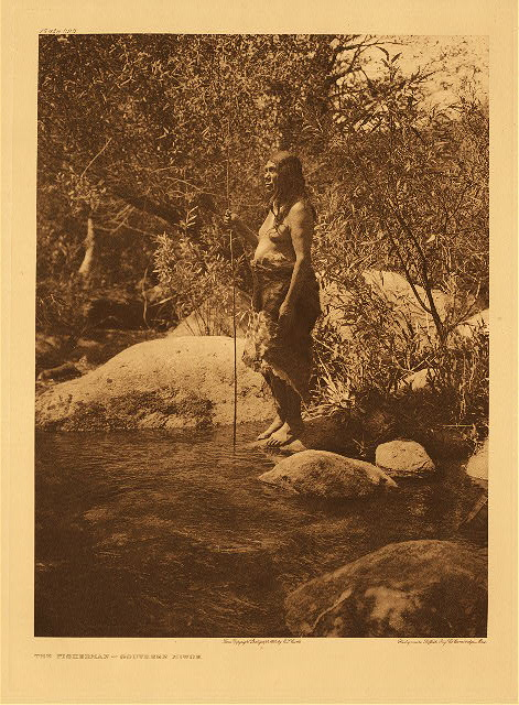 portfolio 14 plate no. 496 Fisherman - Southern Miwok