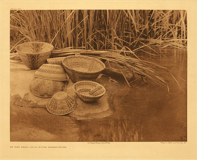 portfolio 14 plate no. 501 By the pool - Tule River Reservation