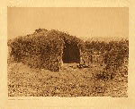 portfolio 15 plate no. 520 Cahuilla house in the deserti - photogravure plate