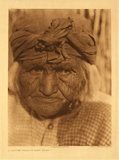 portfolio 15 plate no. 527 Diegueño woman of Santa Ysabel