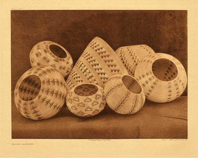portfolio 15 plate no. 541 Washo baskets