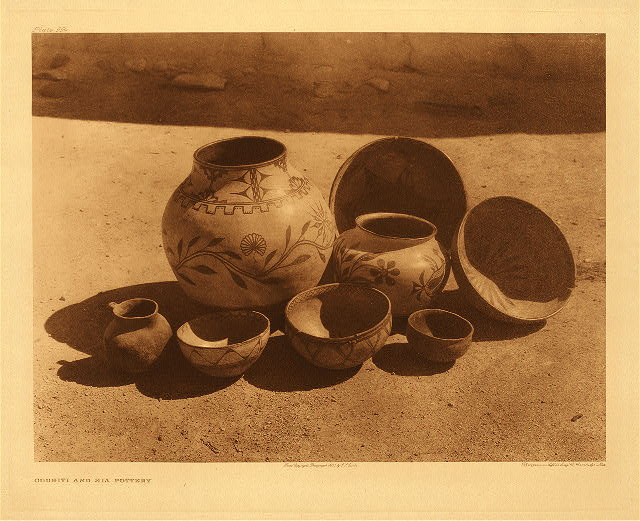 portfolio 16 plate no. 554 Cochiti and Sia pottery