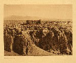 portfolio 16 plate no. 566 Acoma from the south - photogravure plate