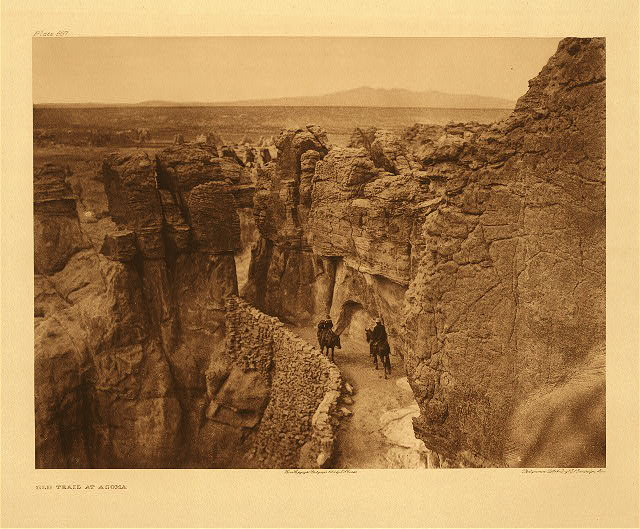 portfolio 16 plate no. 567 Old trail at Acoma