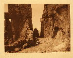 portfolio 16 plate no. 569 At the gateway – Acoma - photogravure plate