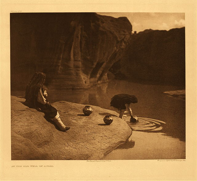 portfolio 16 plate no. 571 At the old well of Acoma