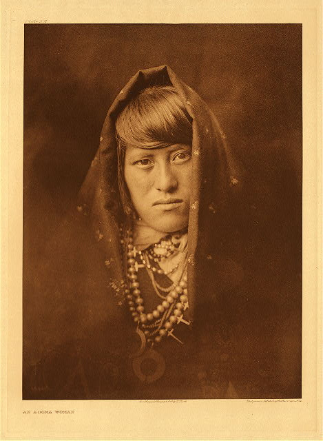 portfolio 16 plate no. 572 An Acoma Woman
