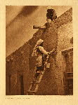 portfolio 16 plate no. 576 Replastering a Paguate house - photogravure plate