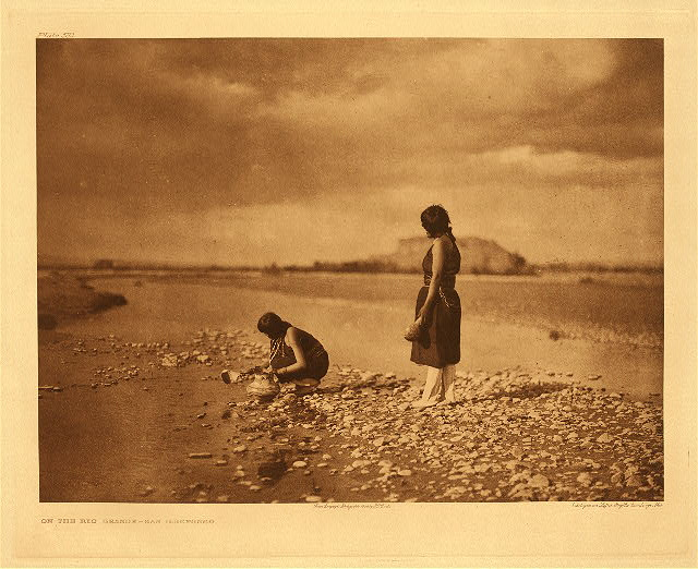 portfolio 17 plate no. 583 On the Rio Grande - San Ildefonso