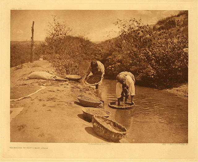 portfolio 17 plate no. 594 Washing wheat - San Juan