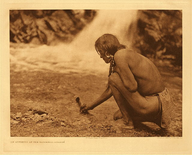 portfolio 17 plate no. 599 Offering at the waterfall – Nambe