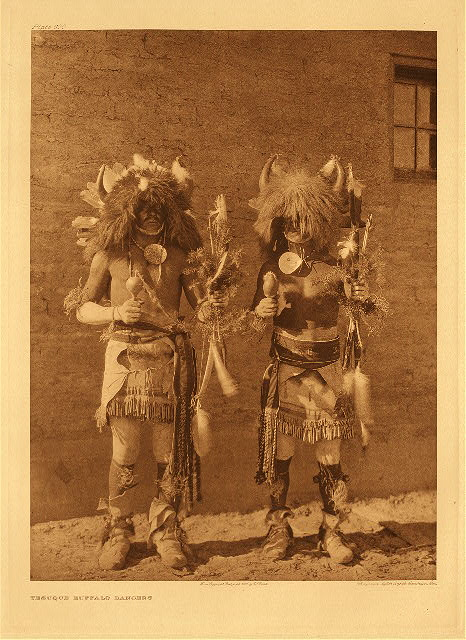 portfolio 17 plate no. 600 Tesuque buffalo dancers