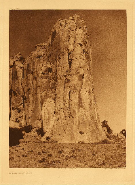 portfolio 17 plate no. 604 Inscription rock