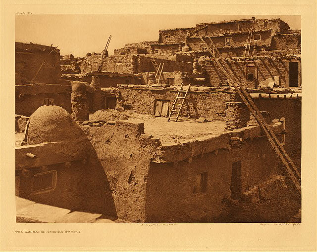 portfolio 17 plate no. 609 Terraced houses of Zuni