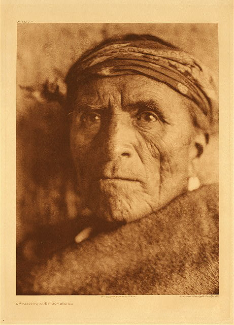 portfolio 17 plate no. 611 Lutakawi, Zuni Governor
