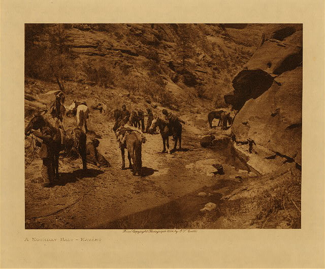 volume 1  facing: page  xviii A noonday halt - Navaho