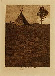 volume 1 facing: page  52 Lone Tree Lodge - Jicarilla - photogravure plate