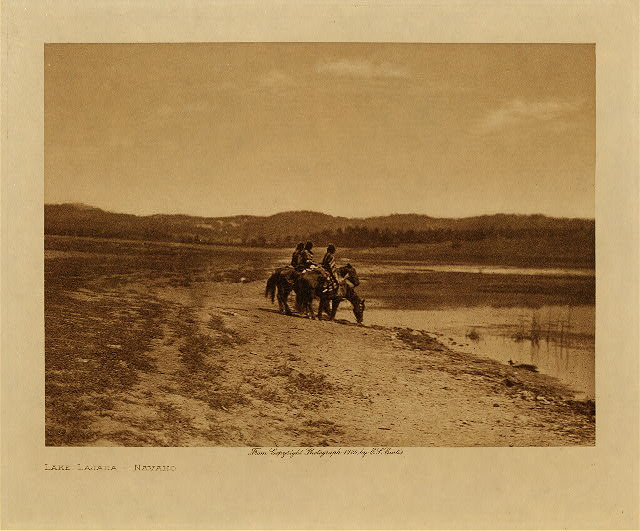 volume 1  facing: page  62 Lake Lajara - Navaho