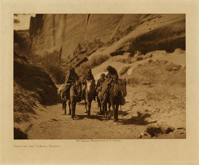 volume 1  facing: page  88 Through the cañon - Navaho