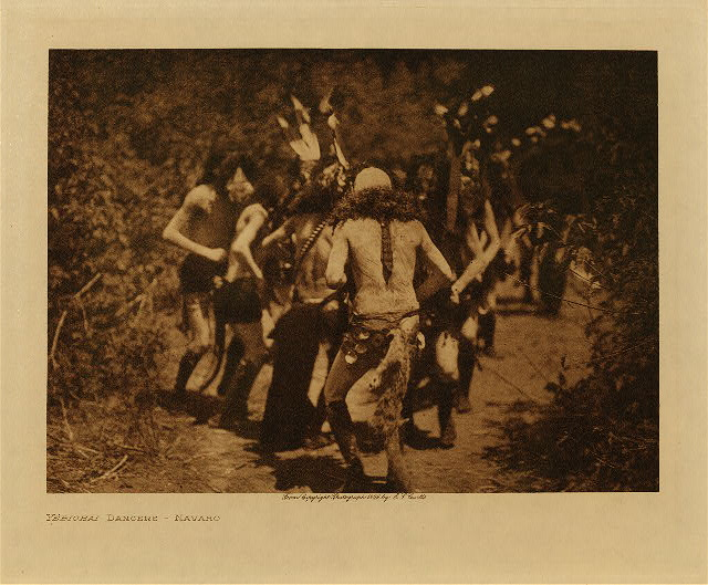 volume 1  facing: page  126 Yebichai dancers - Navaho