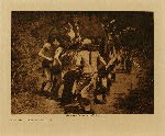 volume 1 facing: page  126 Yebichai dancers - Navaho - photogravure plate