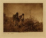 volume 1 facing: page  128 Mescal harvest - Apache - photogravure plate