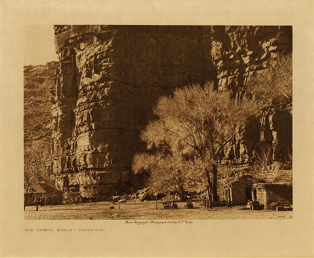 volume 2  facing: page  96 The Canon walls - Havasupai