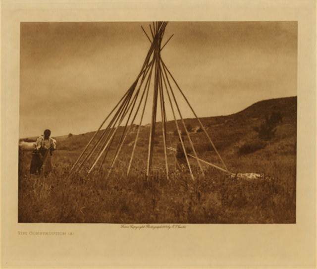 volume 3  facing: page  22 Tipi construction (A)
