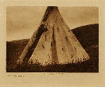 volume 3 facing: page  24 Tipi construction (B) - photogravure plate