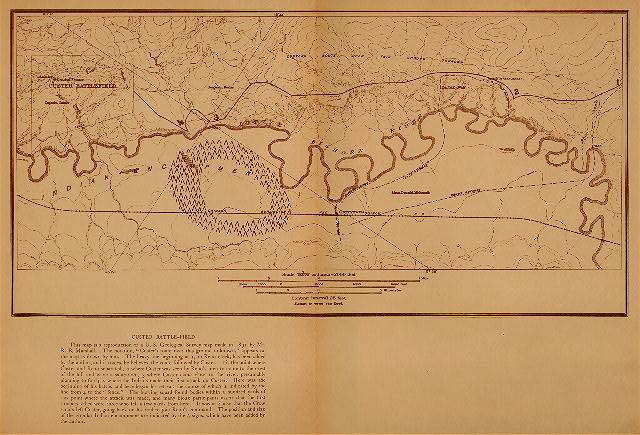 volume 3  facing: page  44 Custer battle-field - map