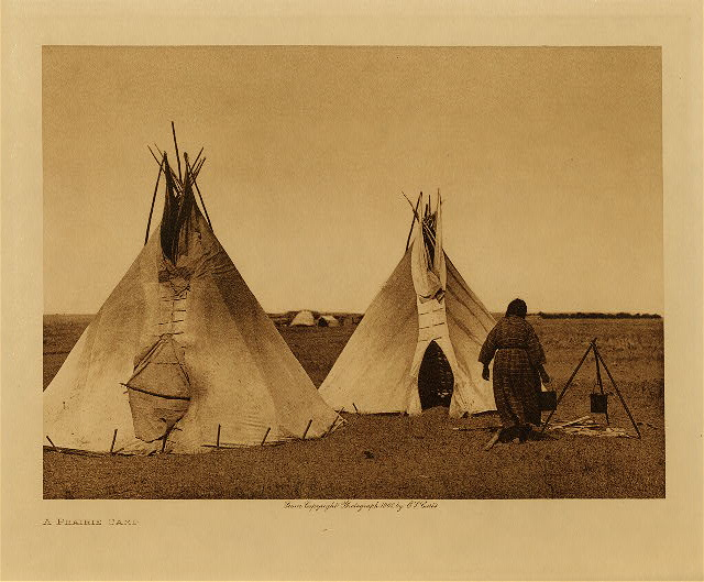 volume 3  facing: page  72 A prairie camp