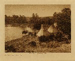 volume 3 facing: page  120 A river camp - Yanktonai - photogravure plate