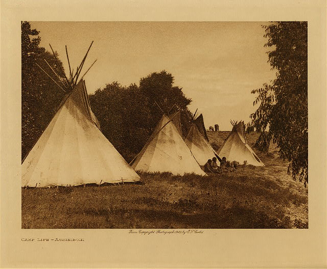 volume 3  facing: page  126 Camp life - Assiniboin