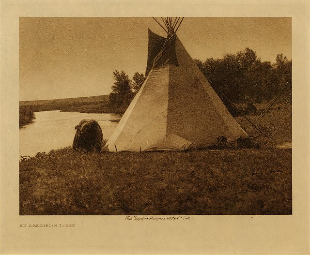 volume 3  facing: page  128 An Assiniboin lodge