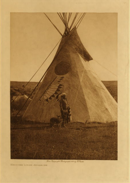 volume 4  facing: page  56 Medicine lodge - Apsaroke