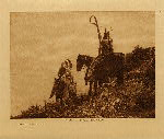 volume 4 facing: page  94 The lookout - Apsaroke - photogravure plate