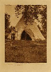 volume 4 facing: page  120 Two Leggings Lodge - Apsaroke - photogravure plate