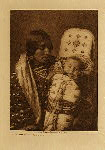 volume 4 facing: page  178 Mother and child - Apsaroke - photogravure plate
