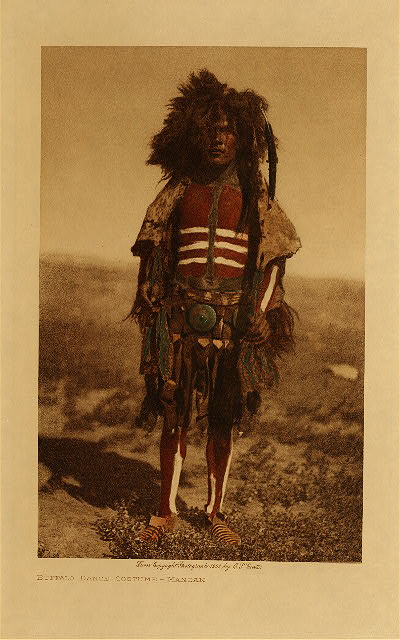 volume 5  facing: page  30 Buffalo dance costume - Mandan