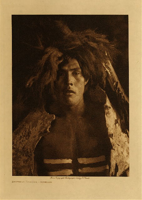 volume 5  facing: page  36 Buffalo dancer - Mandan