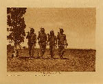 volume 5 facing: page  86 Arikara medicine ceremony : Night men dancing - photogravure plate