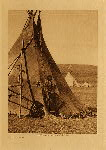 volume 6 facing: page  6 Piegan lodge - photogravure plate