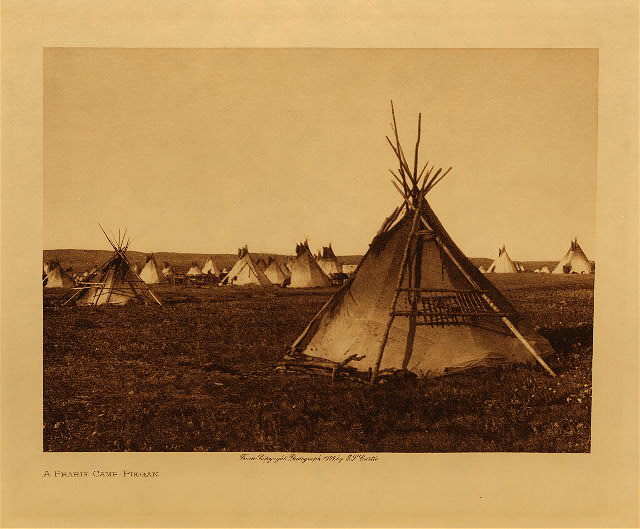 volume 6  facing: page  12 A prairie camp - Piegan